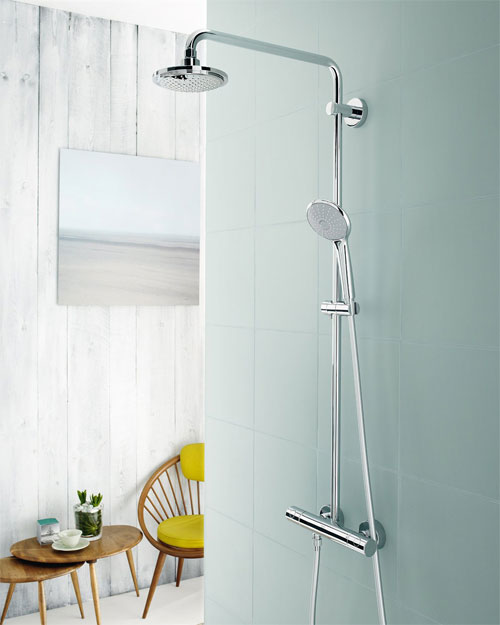 Grohe 26128000 Euphoria Shower System 180 with Thermostat for Wall ...