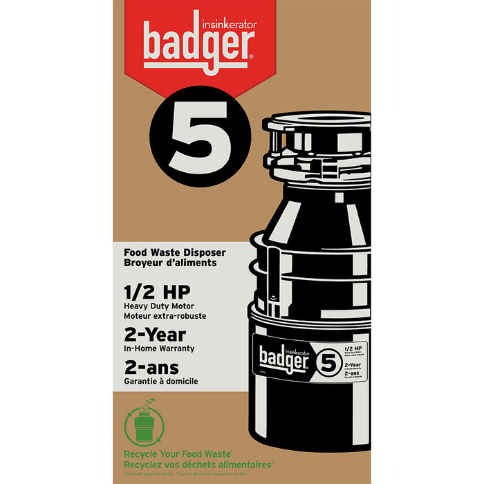 Insinkerator Badger 5 1 2 Hp Garbage Disposal