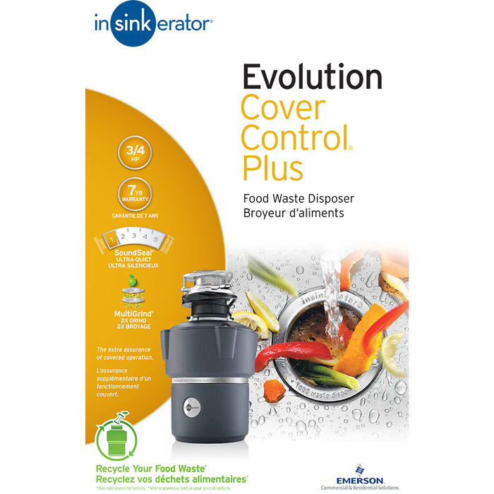 Insinkerator Evolution Cover Control Plus 3 4 Hp Garbage