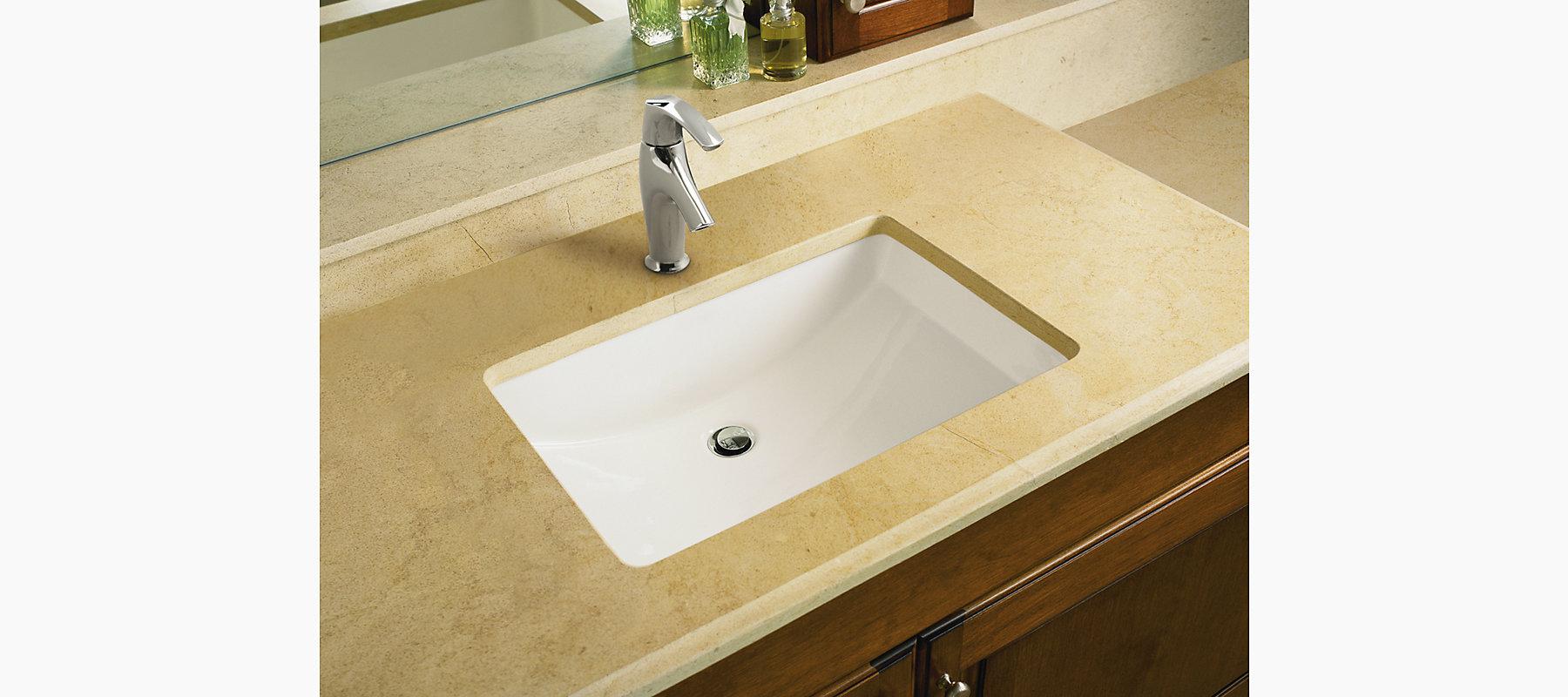 Kohler K 2215 0 Ladena Undercounter Lavatory Sink White