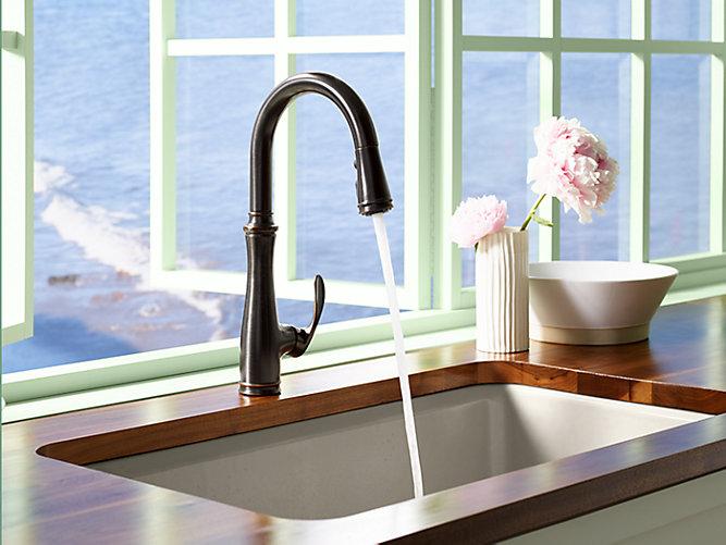 Kohler K 560 2bz Bellera Pull Down Kitchen Faucet Oil