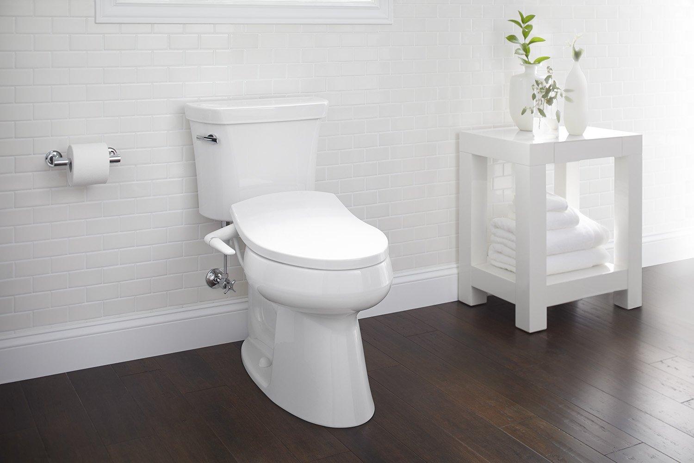 Kohler K 5724 0 Puretide Manual Cleansing Elongated Toilet Seat White Faucetdepot Com