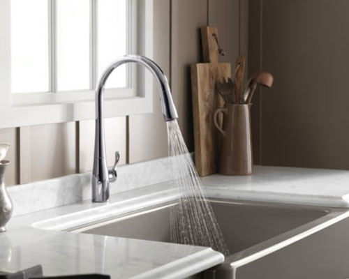 Kohler K 596 CP Simplice Single Hole Pulldown Kitchen Faucet