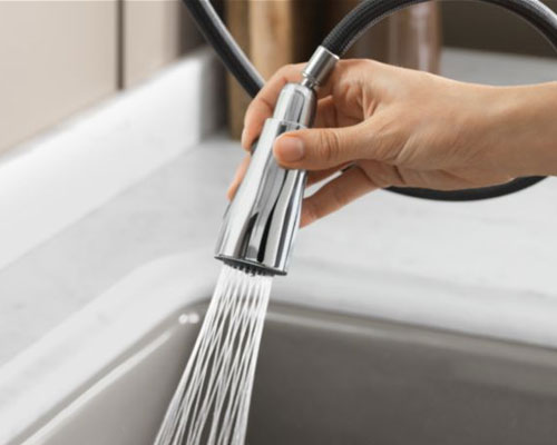 Kohler Kitchen Faucets Simplice kohler k-596-cp simplice single hole pulldown kitchen faucet