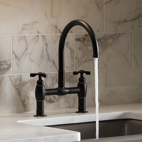 Kohler K-6130-3-2BZ Parq Two Hole Deck Mount Kitchen sink Faucet