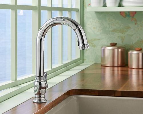 Kohler K 99332 Cp Beckon Electronic Pulldown Kitchen Sink
