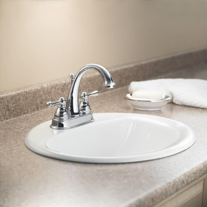Moen 6121 Kingsley Two Handle Centerset Lavatory Faucet