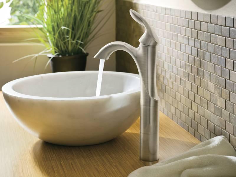 Moen 6400bn Eva Single Handle Low Arc Lavatory Faucet