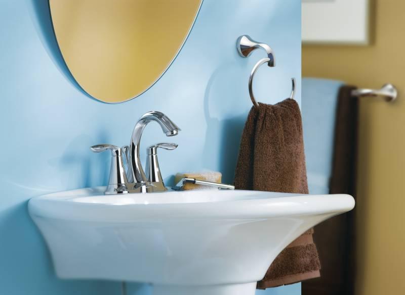 Moen 6410 Eva Two Handle Centerset Lavatory Faucet Chrome