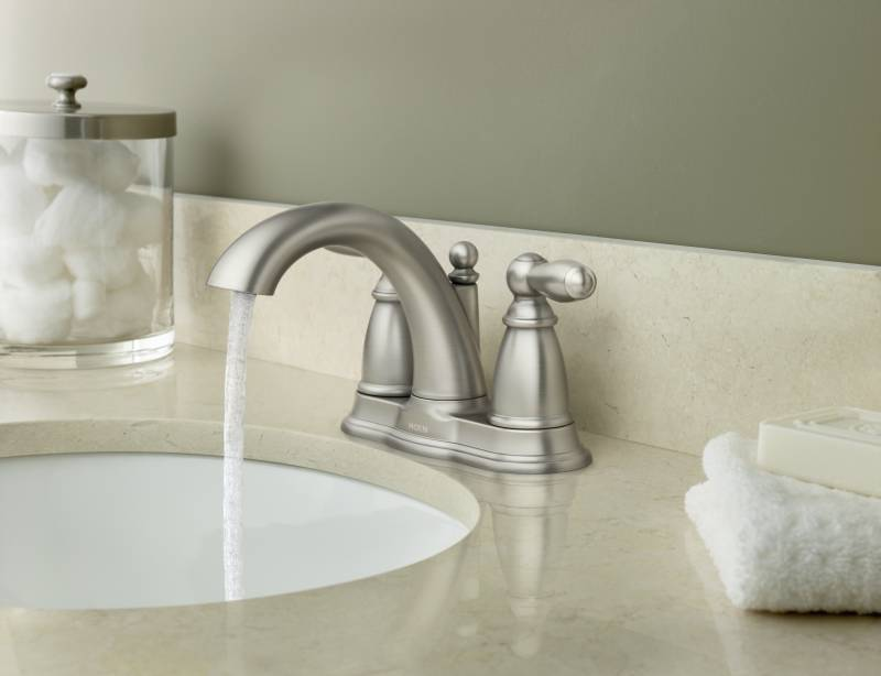 Moen 6610bn Brantford Two Handle Centerset Lavatory Faucet Brushed Nickel Faucetdepot Com