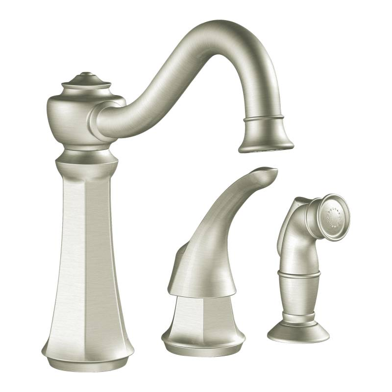 moen 7065csl vestige kitchen faucet with side spray classic stainless moen 7065csl vestige moen 7065csl