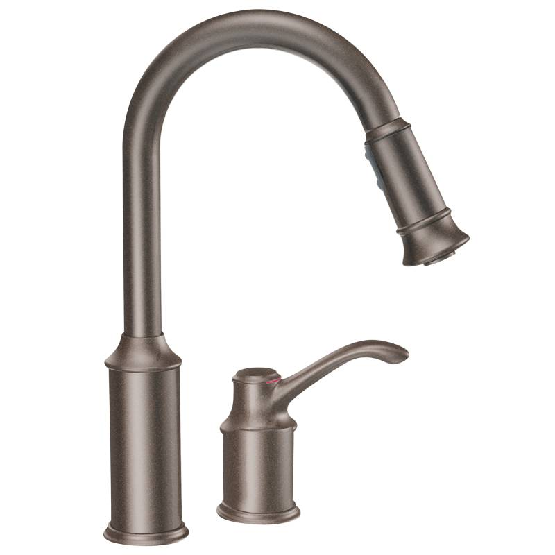Moen 7590ORB Aberdeen Single-Handle Pullout Kitchen Faucet - Oil ...