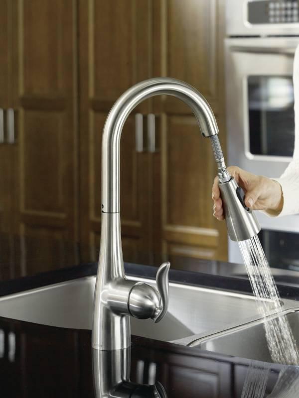 Moen Ca87011srs Kleo Single Handle Pulldown Kitchen Faucet