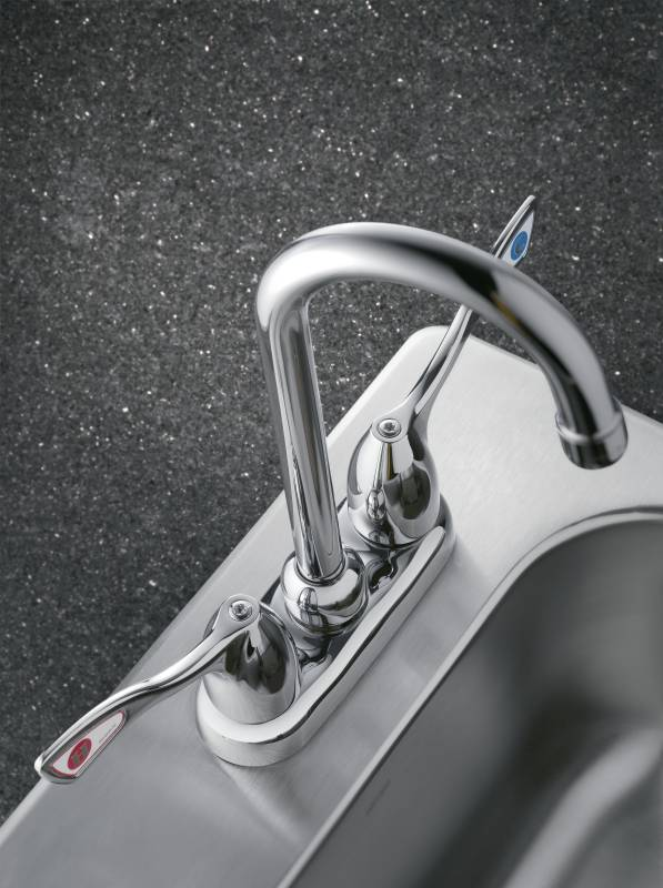 Moen 8938 Commercial Two Handle Bar Faucet Chrome