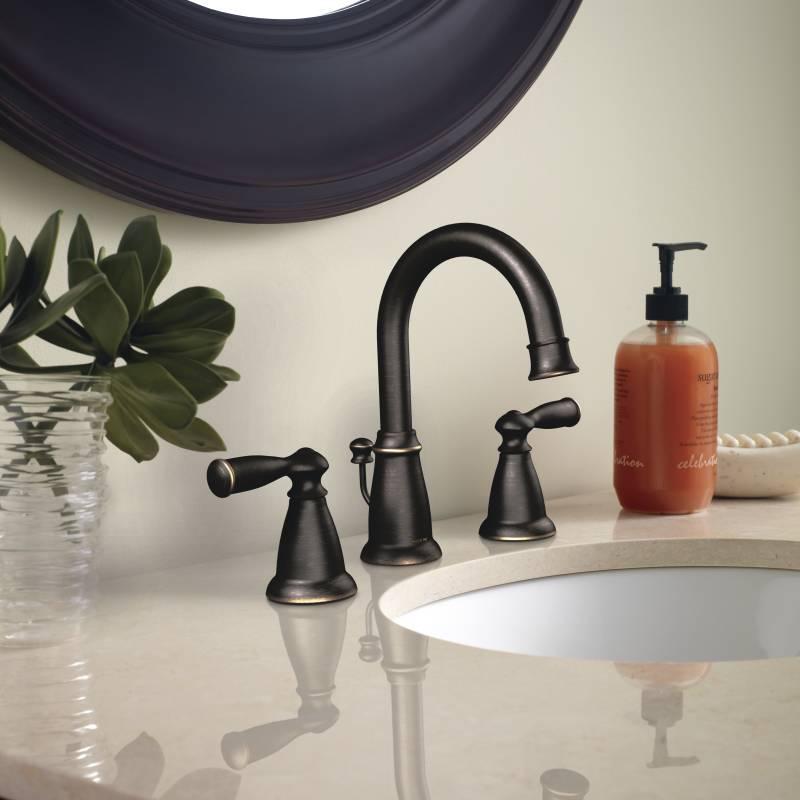 Moen CA84924BRB Banbury Two Handle Widespread Lavatory Faucet Mediterranean