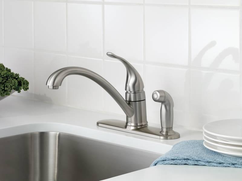 Moen CA87484SRS Torrance Single Handle Low Arc Kitchen Faucet - Spot ...
