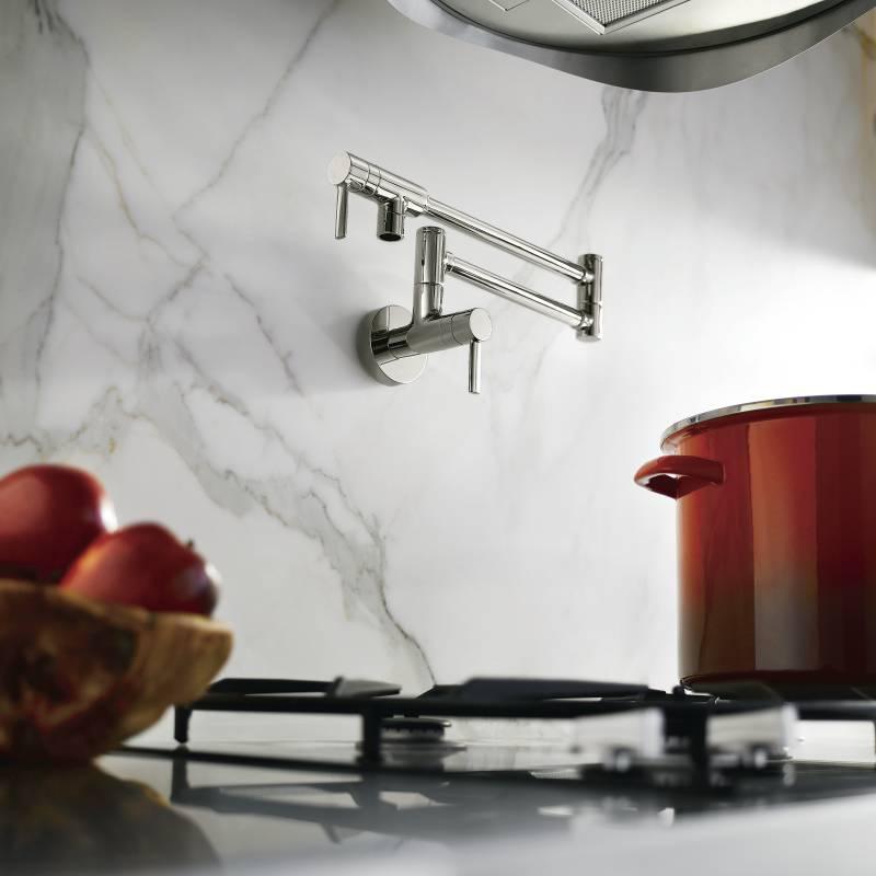 Moen S665 Two Handle Pot Filler Faucet Chrome