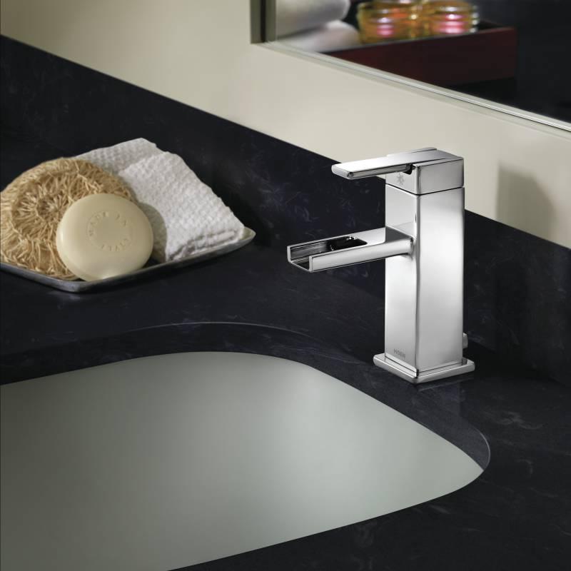 Moen S6705 90 Degree One Handle Low Arc Lavatory Faucet