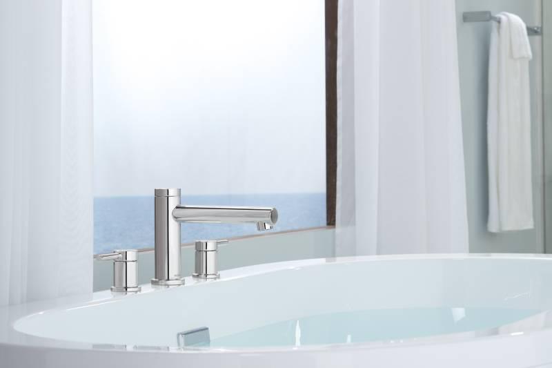 Moen T393 Align Two Handle Non Diverter Roman Tub Faucet