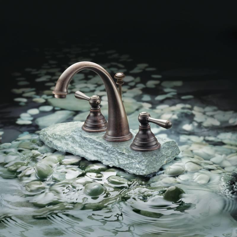 Moen t6125orb kingsley two handle widespread lavatory - Moen antique bronze bathroom faucets ...
