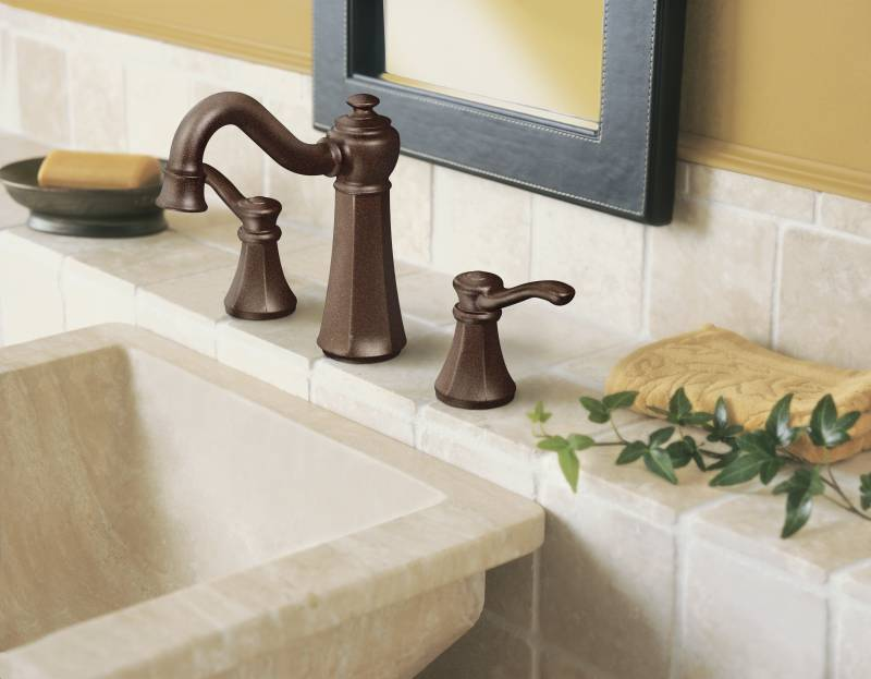Moen T6305ORB Vestige Widespread Lavatory Faucet Trim Oil Rubbed ...