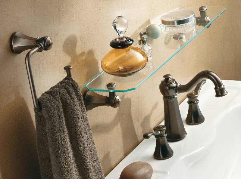 Moen T6305ORB Vestige Widespread Lavatory Faucet Trim Oil Rubbed ...