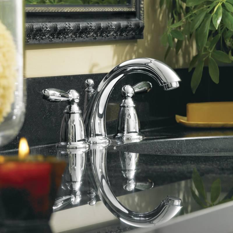 Moen T6620 Brantford Two Handle Widespread Lavatory Faucet