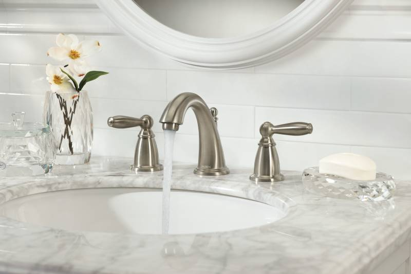 Moen T6620bn Brantford Two Handle Widespread Lavatory Faucet Brushed Nickel Faucetdepot Com