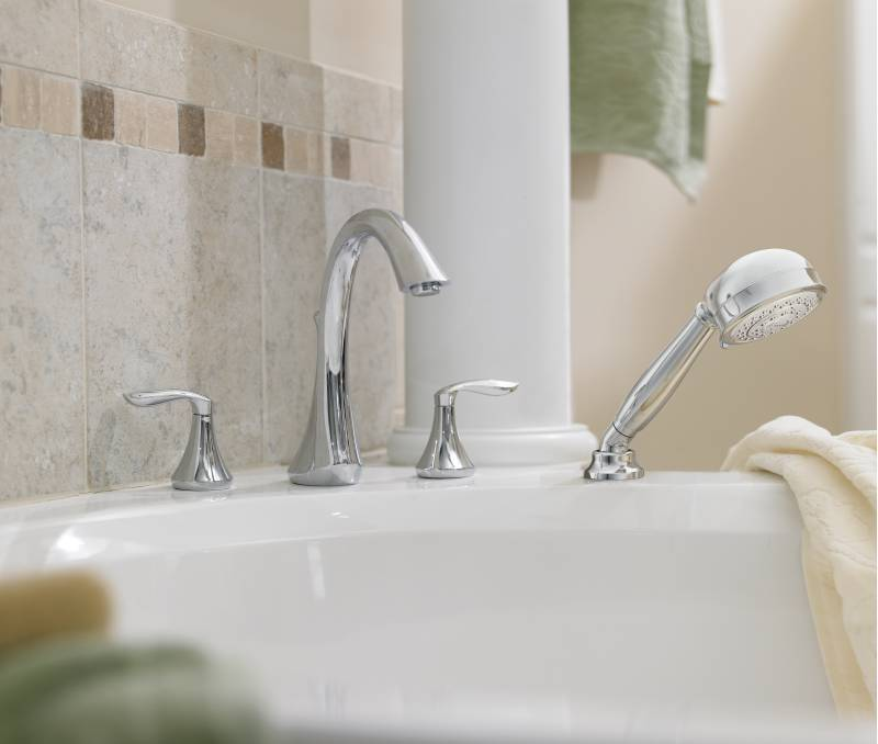 Top Three Handle Tub and Shower Faucet Image Of Bathtub Decor