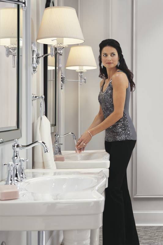 Moen Ts42114 Weymouth Lavatory Two Handle High Arc Faucet