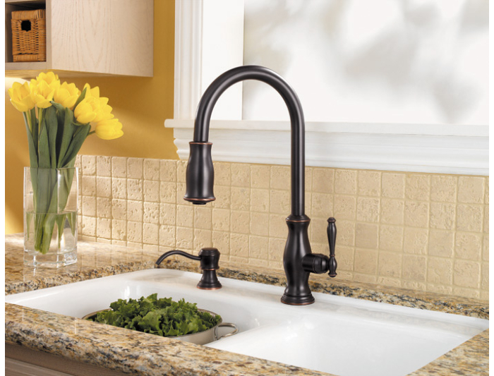Pfister F 529 7tmy Hanover Pull Down Kitchen Faucet Tuscan Bronze