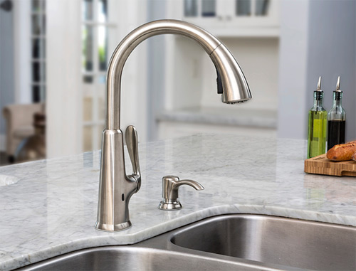Pfister F 529 Epds Pasadena Touch Free Pulldown Kitchen Faucet With React Stainless Steel