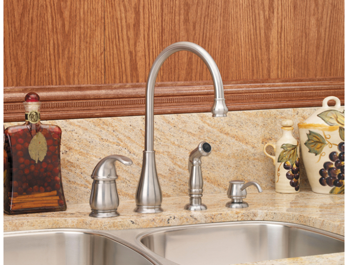 Pfister Lg26 4dss Treviso Single Handle Kitchen Faucet