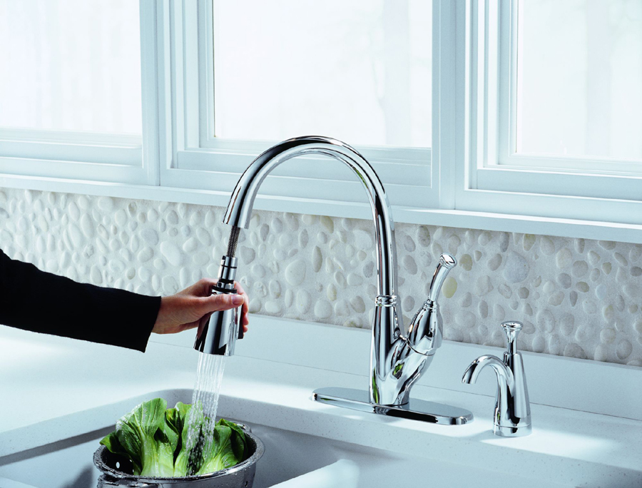 Delta 989-DST Allora Single Handle Pull-Down with Hot/cold Indicator