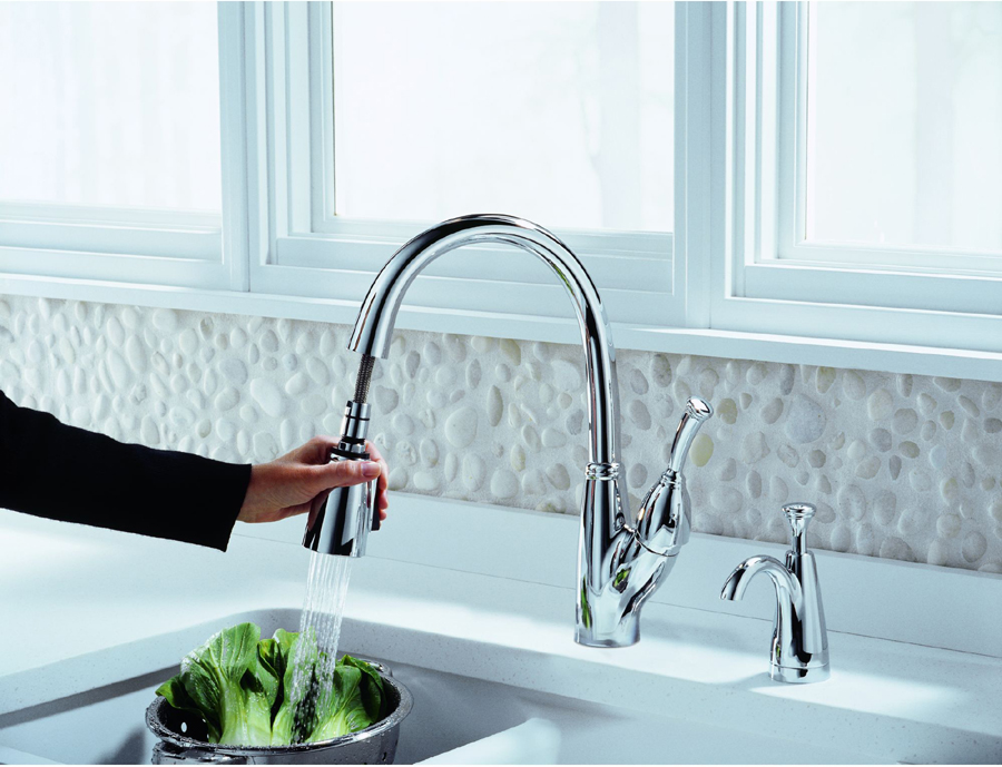 delta 989 dst allora single handle pull down kitchen faucet with rh faucetdepot com delta allora kitchen faucet repair