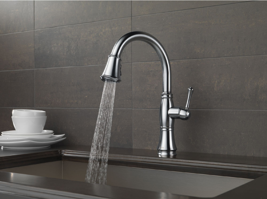 Delta 9197-AR-DST Cassidy Single Handle Pull Down Kitchen Faucet ...