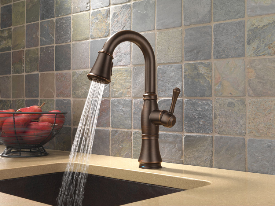 Delta 9997T-RB-DST Bar/Prep Faucet with Touch2O Technology