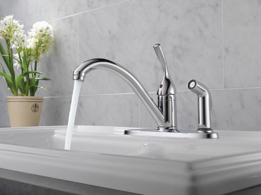 Delta 300-DST Classic Single Handle Kitchen Faucet