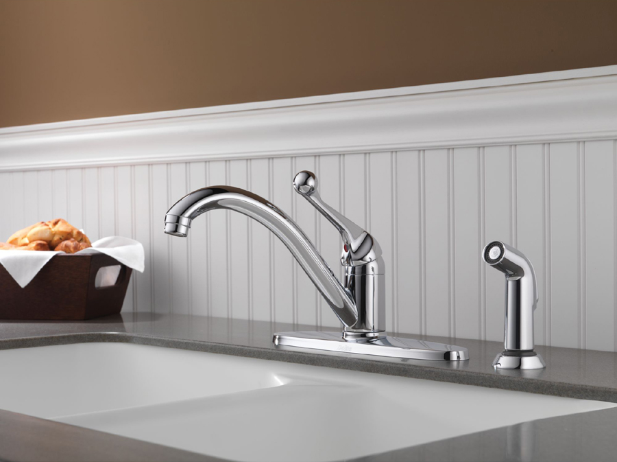 Delta 400-BH-DST Classic Single Handle Kitchen Faucet