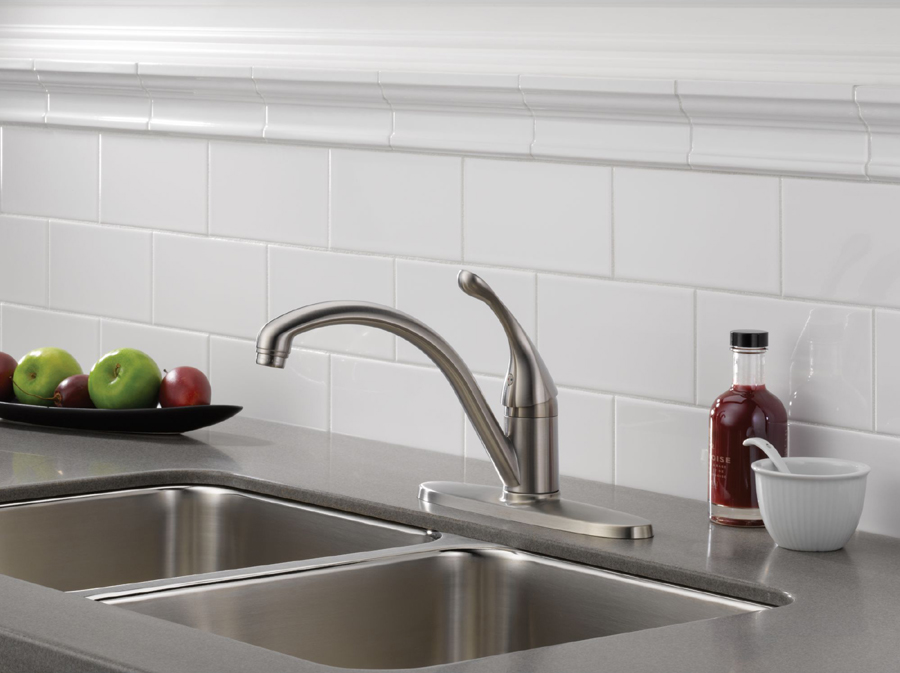 Delta 140-SS-DST Collins Single Handle Kitchen Faucet