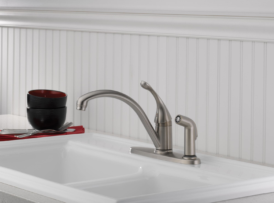 Delta 340-SS-DST Collins Single Handle Kitchen Faucet