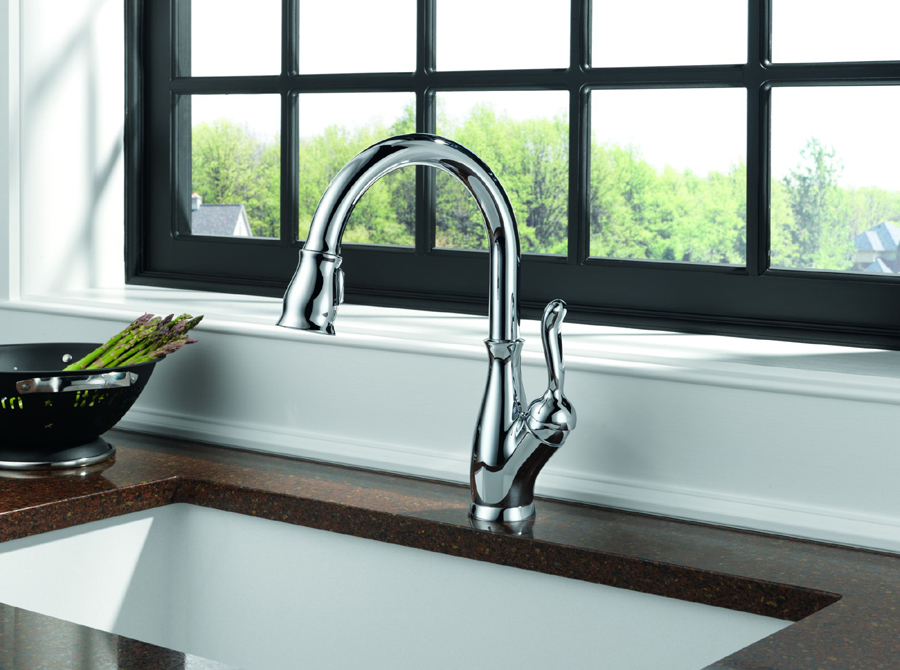 Delta 9178-DST Leland Single Handle Pull-Down Kitchen Faucet