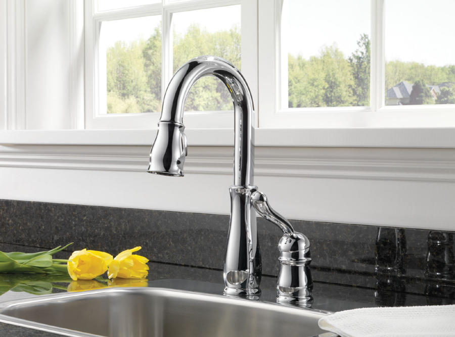 Delta 9978-DST Leland Single Handle Pull-Down Bar/Prep Faucet