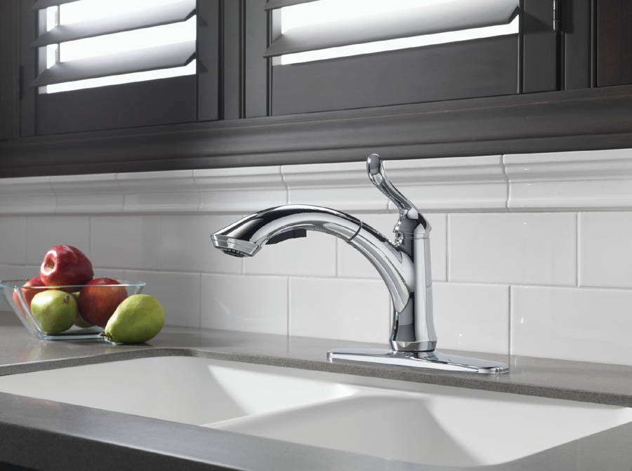 Delta Pull Out Kitchen Faucet Hot Cold Indicator
