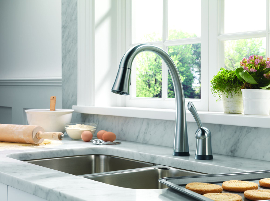 Delta 980T-AR-DST Pilar Single Handle Pull-Down Kitchen Faucet