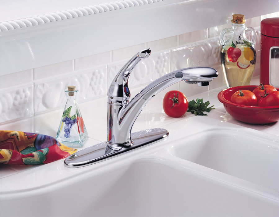 Delta 472-DST Signature Single Handle Pull-Down Kitchen Faucet with DIAMOND Seal Technology