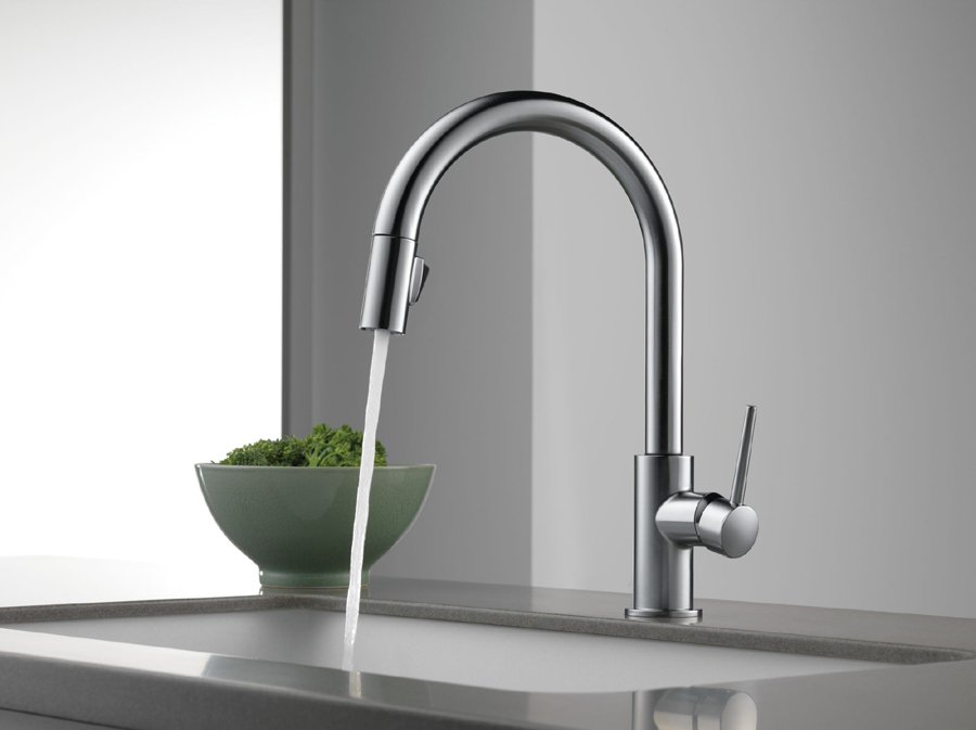 Delta Kitchen Faucet delta 9159-ar-dst trinsic single handle pull-down kitchen faucet