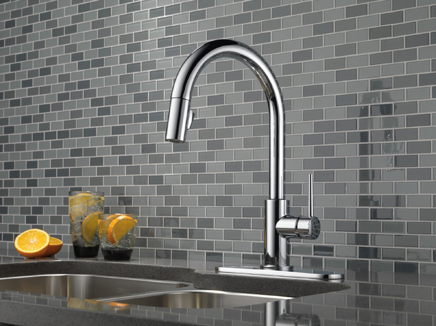 delta 9159-dst trinsic single handle pull-down kitchen faucet