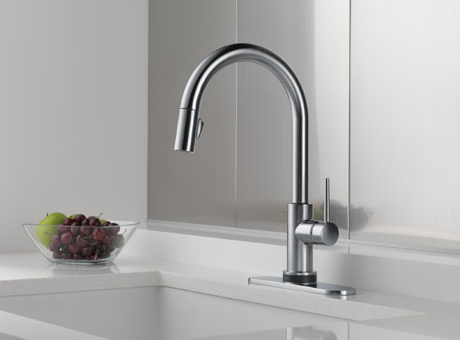 Delta 9159T-Ar-Dst Trinsic Single Handle Pull Down Kitchen Faucet
