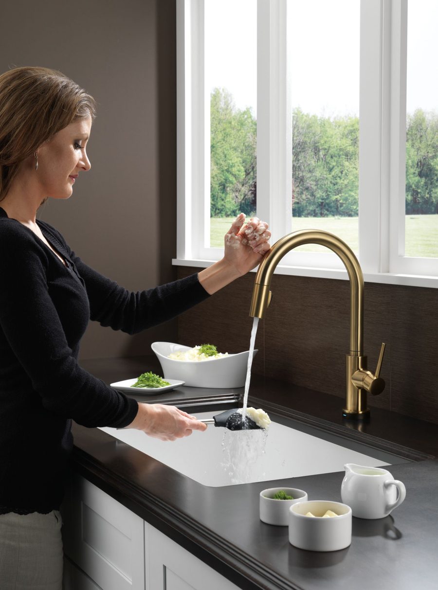 Pull Down Kitchen Faucet Featuring Touch2O Technology